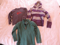 3 x Boys sweatshirt jumpers from Fat Face, Johnnie B and Quiksilver 10-11 years