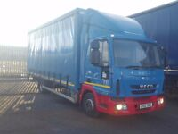 2012-62 plate iveco eurocargo 75e16 20ft curtainsider tuckaway tailift low klms one owner