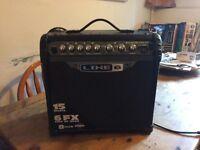 Line 6 , Spider 3, 15 watt practice guitar amplifier