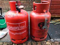 2 x 13 kg Gas Bottles for sale.