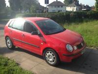 02 vw polo 1.2 5 door 108k good little car £450 ono