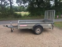Plant trailer with mesh ramp 5' x 8'