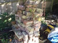 Reclaimed bricks from Victorian outhouses