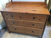 Chest of Drawers - IKEA Leksvik - Chest of 6 drawers - Wooden