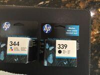 Hp 339 and 344 original ink cartridges