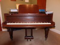 Small Broadwood Grand Piano - Newly tuned - Concert pitch - Beautiful touch and tone