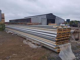 40mm composite panels, 6mm plastisol, 200 microns, Merlin grey, 12.7metres long