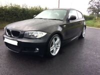 BMW 120i, M Sport, 170bhp, 3door, Dec 2009, 68k miles, Air Con, Bluetooth, Half Leather, V.rare car