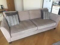 Sofa Works Canterbury Mink 4 seater sofa