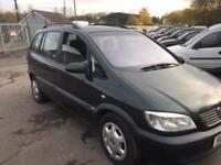 Vauxhall Zafira 7 seater full mot