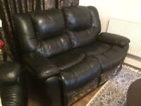Recliner leather sofa 3 & 2 seaters