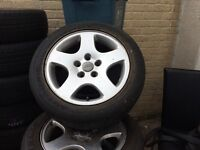 Audi A6 genuine alloys with good tyres on