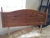 Pine double headboard - like new!!