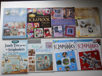 Collection of Eight Scrapbooking Books.
