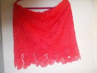Ladies red skirt size 20 and beach dress size L