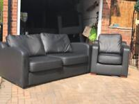 DFS - Contemporary Leather 3 Seater Sofa!