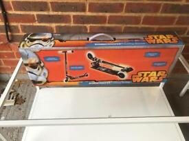 Disney stormtrooper folding scooter