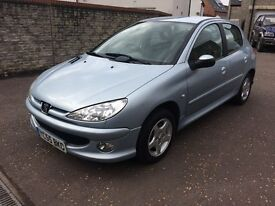 2005 PEUGEOT 206 1.4 SPORT 5dr, LOVELY CONDITION, LOW MILEAGE, NEW MOT AND SERVICED.