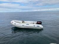 3.1m Avon rib boat with 15hp outboard and trailer