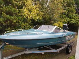 fletcher arrowstreak bravo speedboat 115 mercury power tilt/trim