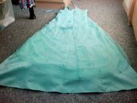 Green Halter Neck Prom Dress