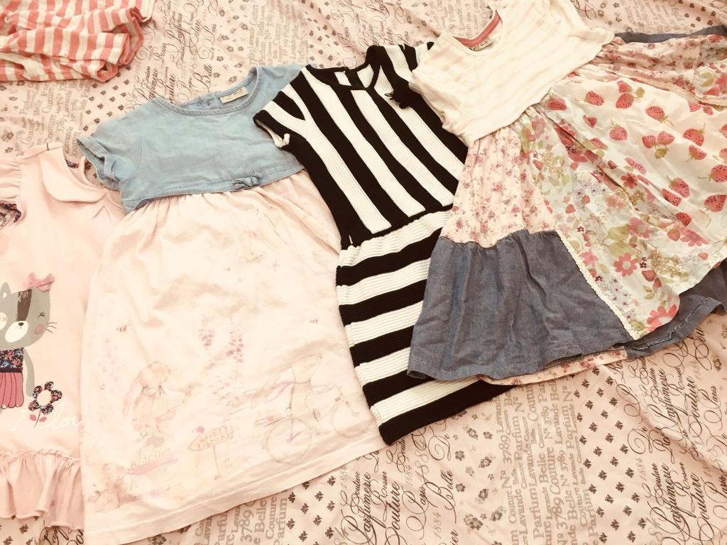 Girls Clothes - Bundle of Dresses Age 3-4 VGC