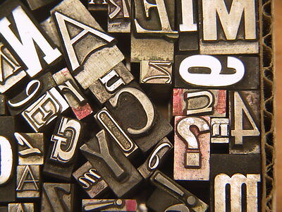 Mixed Metal Type #25 - Letterpress Type from the 50's era