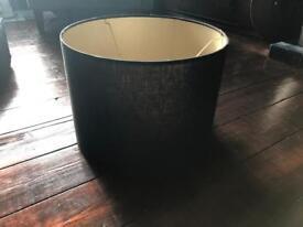 Black drum lampshade
