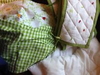 Baby bedding, crib bumper and covers