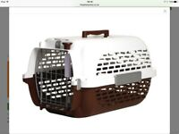 Dogit Voyageur 300 Large Plastic Dog Carrier 61x41x37cm Brown/White