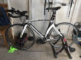 Cannondale Slice Triathlon Bike in Excellent Condition 2014 with VDO Speedometer