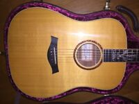 2000 Taylor 25th Anniversary Dreadnought Acoustic Guitar