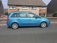 7 seats Vauxhall Zafira 06 reg New shape with very low miles ,stunning blue ,px welcome
