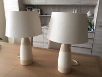 Pair of lamps in excellent condition collect from Plymouth Hoe £20 for the pair.