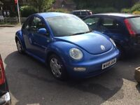 VW Beetle, 2litre petrol with manual gearbox