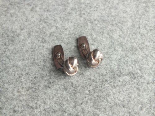 Bernhard Hertz Sterling Silver Woven Knot Cufflinks Denmark
