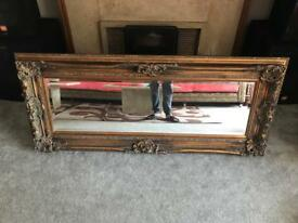 Large 6ft gold mirror