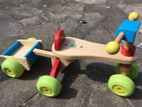 Early learning wooden tricycle