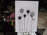 Lovely Canvas Flower Print
