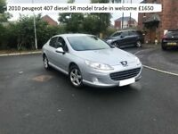 2010 peugeot 407 diesel SR model , TRADE IN WELCOME