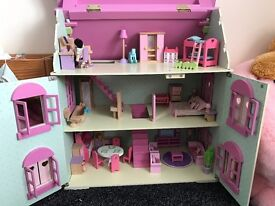 Wooden dolls house and more bundle