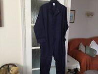 Dark blue boiler suit/overalls 44 inch