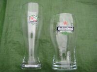 2 Specially Decorated Heineken Pint Glasses for £6.00 - SET 8