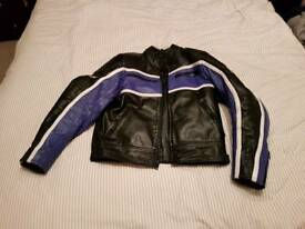 JTS leather motorcycle jacket