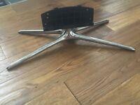"""Silver TV Quad Base Stand Original Samsung for 40"""" screen brand new."""
