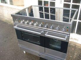 Britannia Electric cooker range with ceramic hob Refurbished.