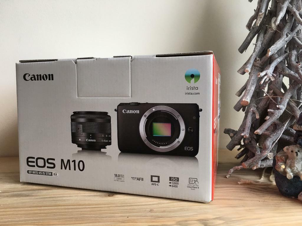 Canon Eos M10 With 15 45mm Lens White In Chesterfield Ef M Is Stm