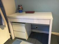 White Study Desk with Drawer - Brand New