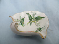 Vintage Hammersley Bone China Sea Shell Shaped Trinket Dish Soap Dish Lily of the Valley