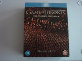 GAME OF THRONES THE COMPLETE SEASONS 1- 4 BLU-RAY DISCS